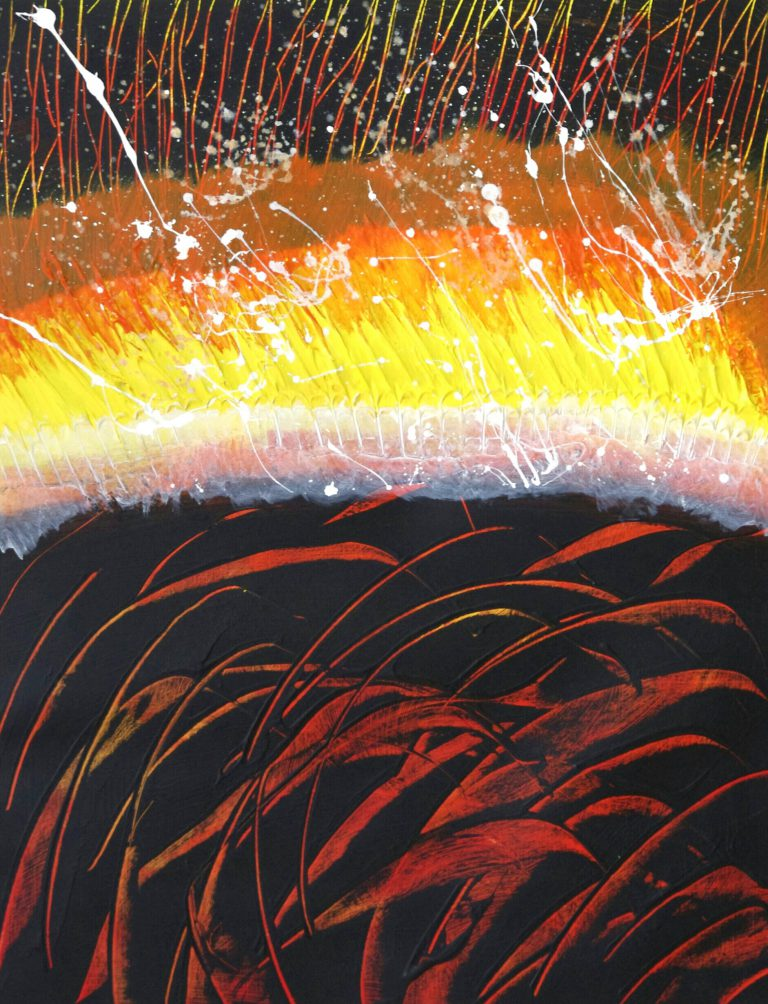 Abstrakte Kunst - Tom Helman - 150506-studie-i-hölle