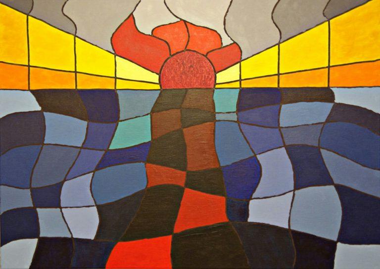 Abstrakte Kunst - Tom Helman - 190105-sonnensterben