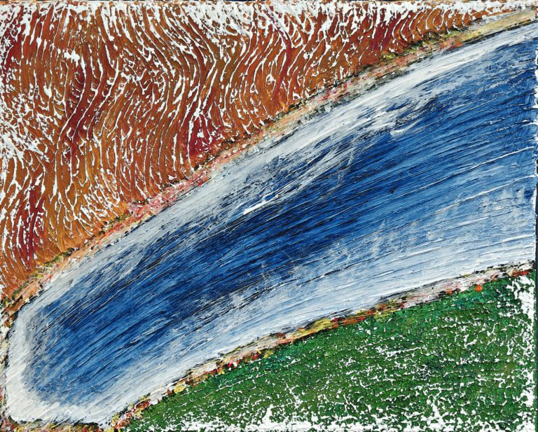 Abstrakte Kunst - Tom Helman - 191227-Eiskomet-spaltet-Erde