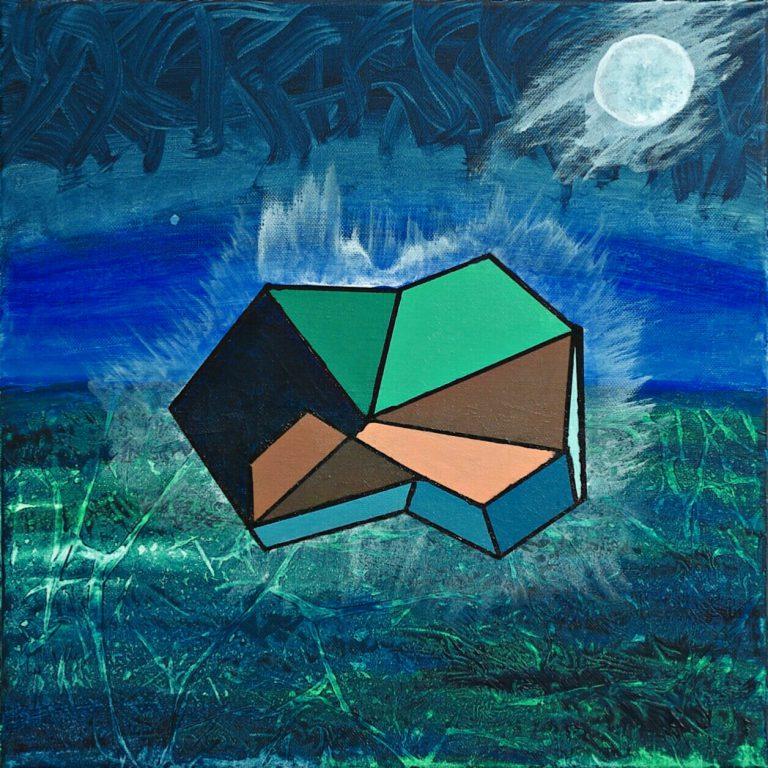 Abstrakte Kunst - Tom Helman - 200103-Mein-Fels-ueber-der-Brandung-(Philosophie)