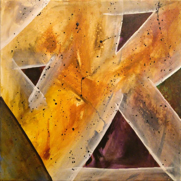 Abstrakte Kunst - Tom Helman - 200119- Herbst-Amethysten-am-See