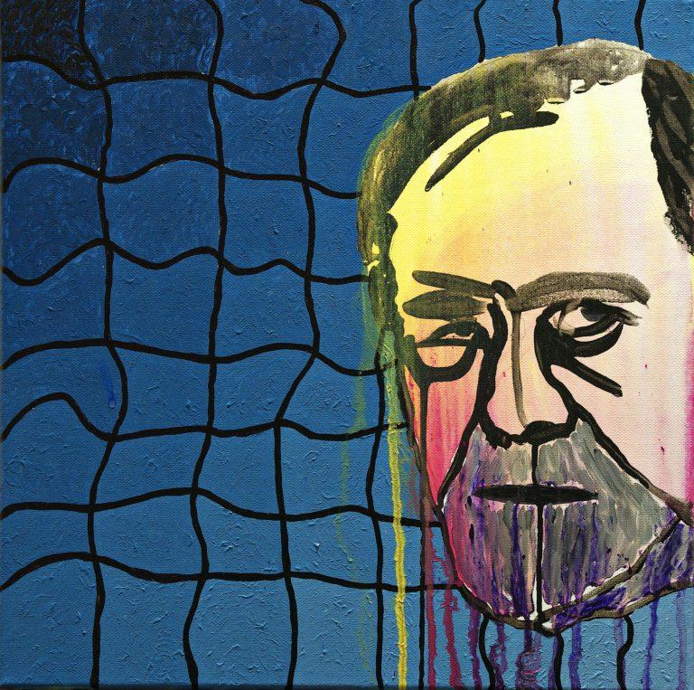 Abstrakte Kunst - Tom Helman - 200330-Ozeanisches-Gefühl-skrrt-Acryl-auf-Leinwand-40x40cm