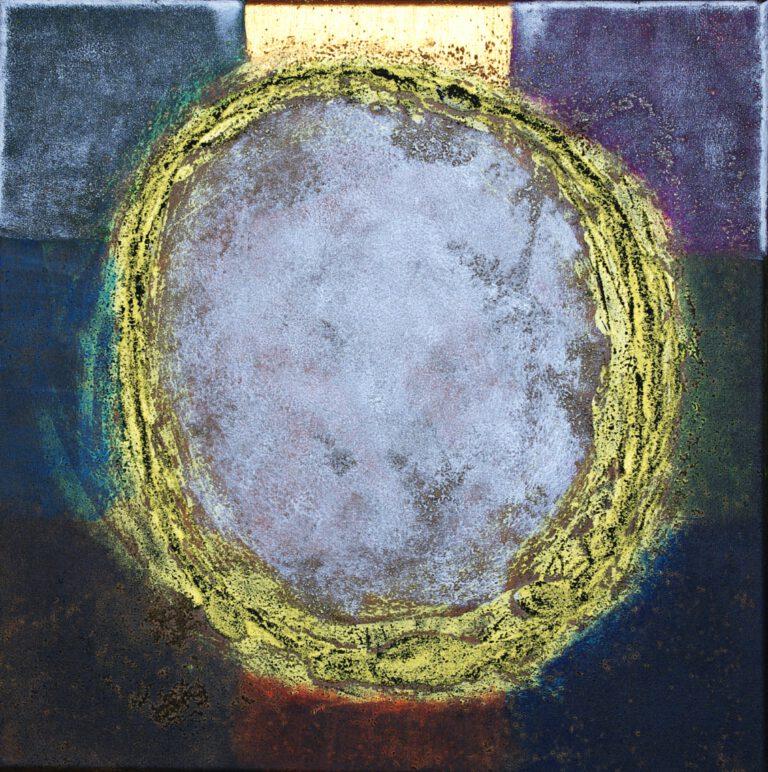 Abstrakte Kunst - Tom Helman - 210118-Porträt-eines-Heiligen-im-21-Jahrhundert-50x50