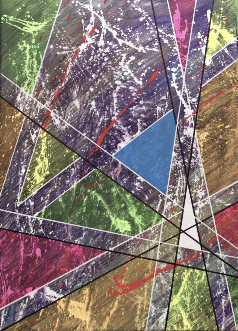 Abstrakte Kunst - Tom Helman - 210710-Abschied-Nehmen-Turmstraße-50x70